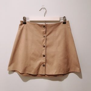 Kendall & Kylie Skirts - Kendall + Kylie Brown Suede Skirt